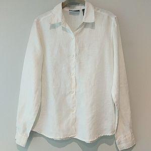 Liz Claiborne 100% linen shirt